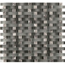 Lucente Glass Mosaic Tile in Gray/Brown