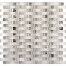 Lucente Grazia Random Sized Glass Mosaic Tile in Gray