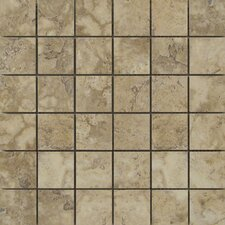 Lucerne Porcelain Mosaic Tile in Beige