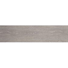 """Alpine Foam 6"""" x 36"""" Porcelain Wood Tile in Gray"""