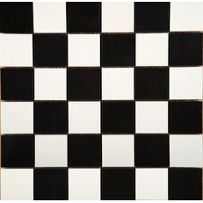 """Times Square 2"""" x 2"""" Porcelain Mosaic Tile in Black and White"""