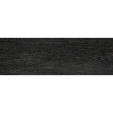 "Alpine 12"" x 36"" Porcelain Wood Tile in Black"