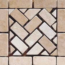 Pacific Random Sized Ceramic Mosaic Tile in Beige