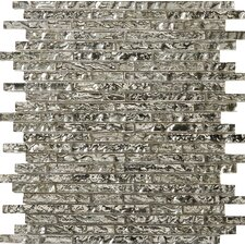 Vista Arte Glass Splitface Tile in Silver