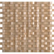 Lucente Random Sized Glass Mosaic Tile in Beige