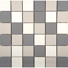 """Times Square 2"""" x 2"""" Porcelain Mosaic Tile in Multi-colored"""