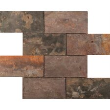 "Slate 16"" x 16"" Mosaic Tile in Multi-colored"
