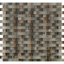 Lucente Random Sized Glass Mosaic Tile in Gray