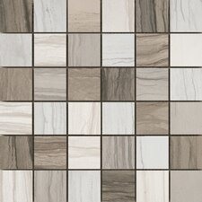 """Motion 2"""" x 2"""" Porcelain Mosaic Tile in Multi-Colored"""