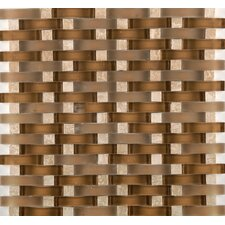 Lucente Tromba Random Sized Glass Mosaic Tile in Brown