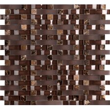 Lucente Vetro Random Sized Glass Mosaic Tile in Brown