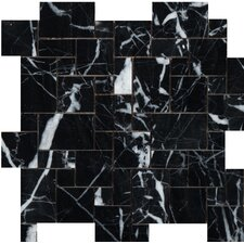 Random Sized Marble Field Tile in Black