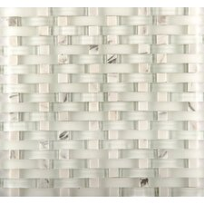 "Lucente 12"" x 13"" Glass Stone Blend Mosaic Tile in Ambrato"