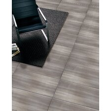 """Perspective 12"""" x 24"""" Porcelain Wood Tile in Gray"""