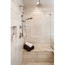 "Crema Marfil 1"" x 12"" Marble Field Tile in Cream"