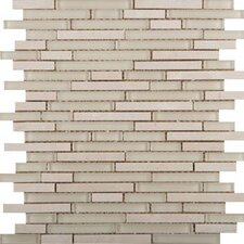 Lucente Random Sized Glass Mosaic Tile in Ivory