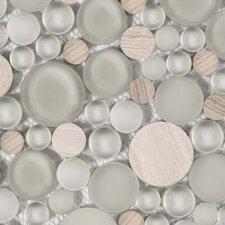 Lucente Random Sized Glass Pebble Grey/Brown