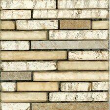 Vista Liner Random Sized Glass Splitface Tile in Gold