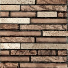 Vista Random Sized Stone and Glass Splitface Tile in Brown/Beige