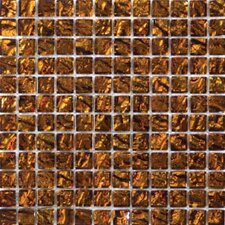 "Vista 12"" x 12"" Glass Mosaic Tile in Gold"