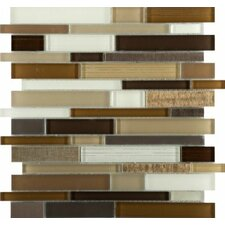 Flash Random Sized Glass Mosaic Tile in Multi-colored