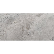 """Silver 3"""" x 6"""" Marble Tile in Silver"""