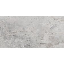 """Silver 4"""" x 8"""" Marble Tile in Silver"""