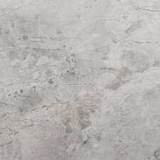 """Silver 6"""" x 6"""" Marble Tile in Silver"""