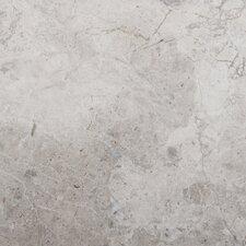 "Silver 18"" x 18"" Marble Field Tile in Silver"