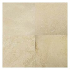 """Ivory 12"""" x 12"""" Travertine Tile in Ivory"""