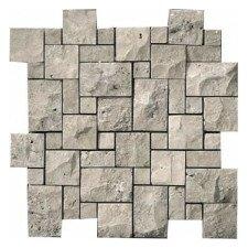 "Silver 12"" x 12"" Travertine Tile in Silver"