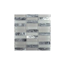 Illumina 12 x 12 Glass Stone Blend Tile in Luster Mosaic