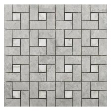 """Silver 12""""   x 12"""" Marble Tile in Silver"""
