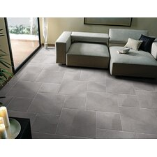 "St Moritz Ii 12"" x 12"" Porcelain Field Tile in Gray"