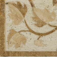 "Natural Stone 4"" x 4"" Waterjet Travertine Listello Corner in Garda"