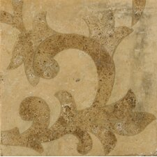 "Natural Stone 4"" x 4"" Waterjet Travertine Listello Corner in Porto"