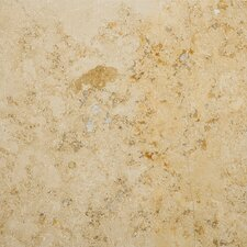 "Natural Stone 18"" x 18"" Limestone Field Tile in Jura Stone Beige"