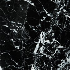 """Natural Stone 12"""" x 12"""" Marble Field Tile in Black / White"""