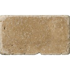 "Natural Stone 3"" x 6"" Travertine Subway Tile in Noce"