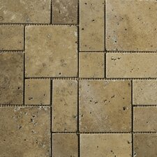 Natural Stone Random Sized Travertine Mosaic Tile in Mocha