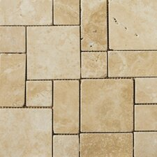 Natural Stone Random Sized Travertine Mosaic Tile in Beige