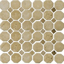 Natural Stone Random Sized Travertine Mosaic Tile in Beige and Mocha