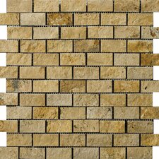 Natural Stone Random Sized Travertine Mosaic Tile in Gold