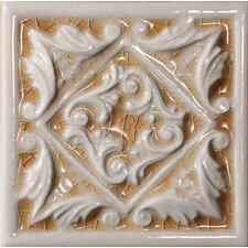 """Cape Cod 6"""" x 6"""" Seashore Accent Tile in Antique Beige Crackle"""
