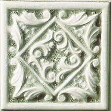 """Cape Cod 6"""" x 6"""" Seashore Accent Tile in Willow Green Crackle"""