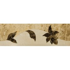 "Natural Stone 12"" x 4"" Honed Marble Thalia Listello"