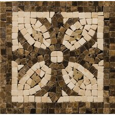 """Natural Stone 4"""" x 4"""" Honed Marble Thermae Listello Corner"""