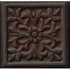 "Renaissance 4"" x 4"" Roma Accent Tile in Rust Iron"