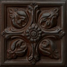 "Renaissance 4"" x 4"" Toscana Accent Tile in Rust Iron"