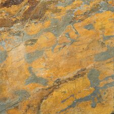 """Natural Stone 16"""" x 16"""" Slate Field Tile in Earth"""
